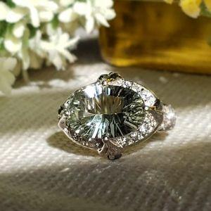 Prasiolite Sterling Silver Ring